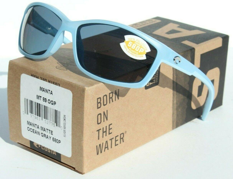 New Costa Del Mar Tasman Sea Polarized Sunglasses 580P Matte Dark Blue//Amber