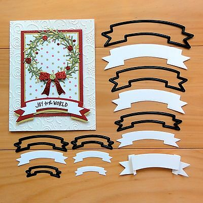 """CLEARANCE"" CRAFT CONCEPTS NESTING DIES Banners Labels Christmas Birthday BNIP"