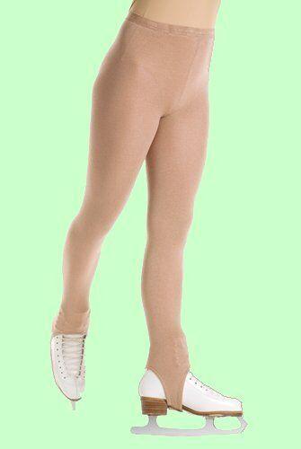 SALE! Mondor Adult #3374 SUNTAN Stirrup Skating Tights With Velcro® Fasteners