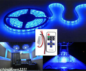 Blue led light bar deck waterproof 12v bow trailer pontoon 16 ft image is loading blue led light bar deck waterproof 12v bow aloadofball Image collections