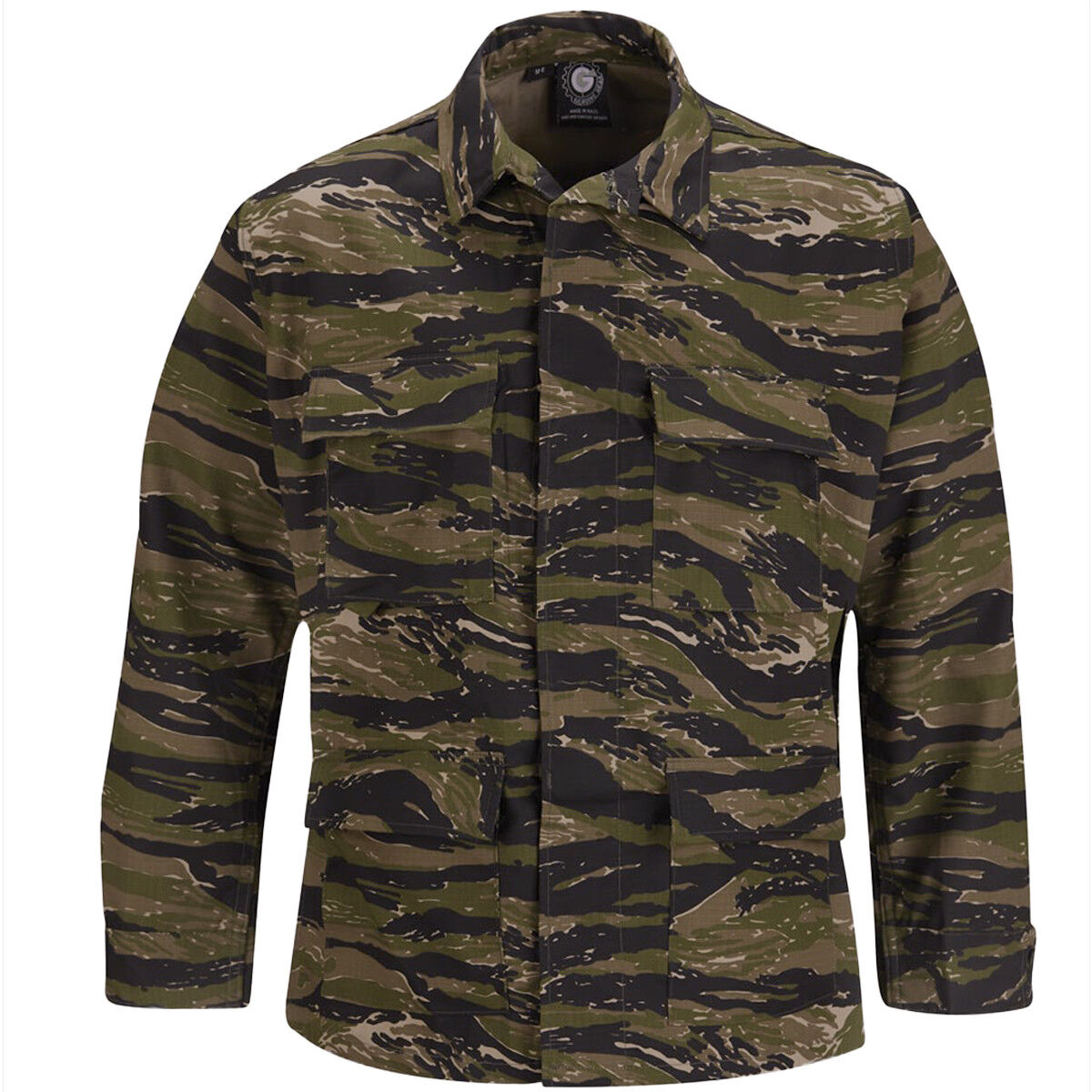 Propper Uniform BDU Coat Mens Military Polycotton Army Asian Tiger Stripe Camo
