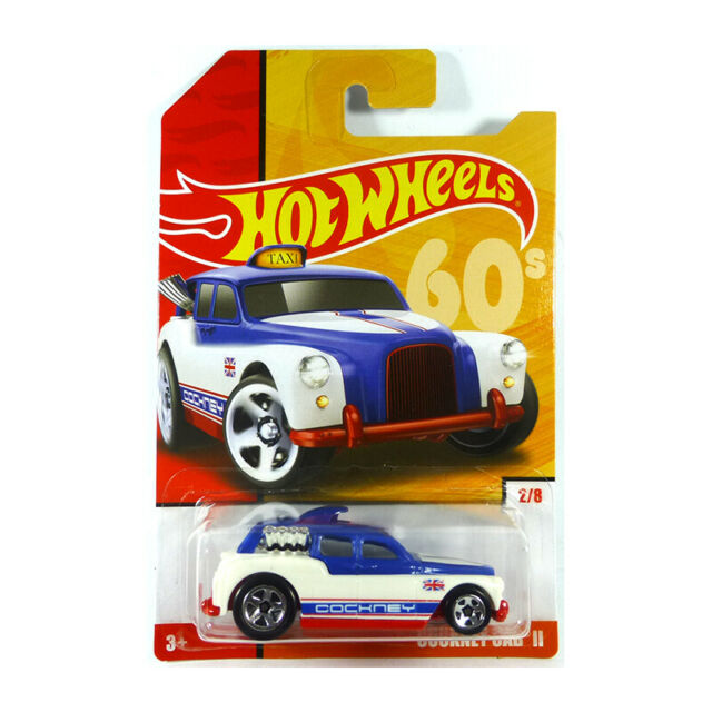 Hot Wheels GBB85-97 Cockney Cab II White/Blue/Red Scale 1:64 Model Car New !°