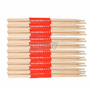 10-Pairs-7A-Music-Band-Maple-Wood-Drum-Stick-Drumsticks