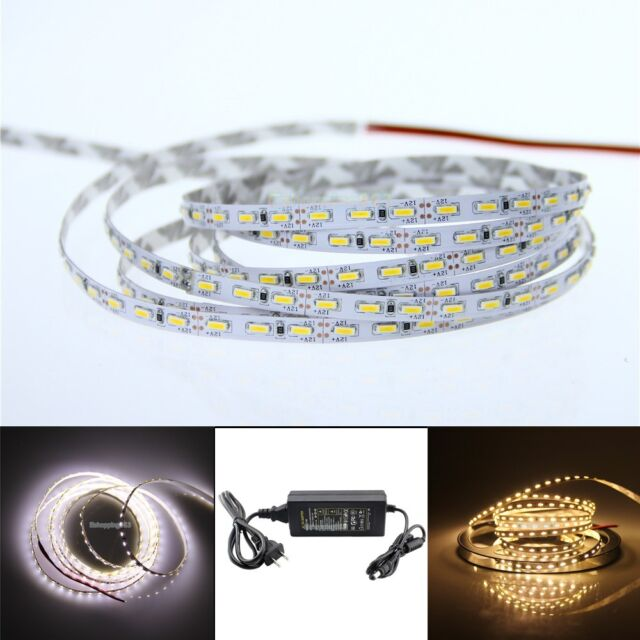 5mm Width 3014 5M 600 LED Strip Light Cool warm White Non-Waterproof 12V #1