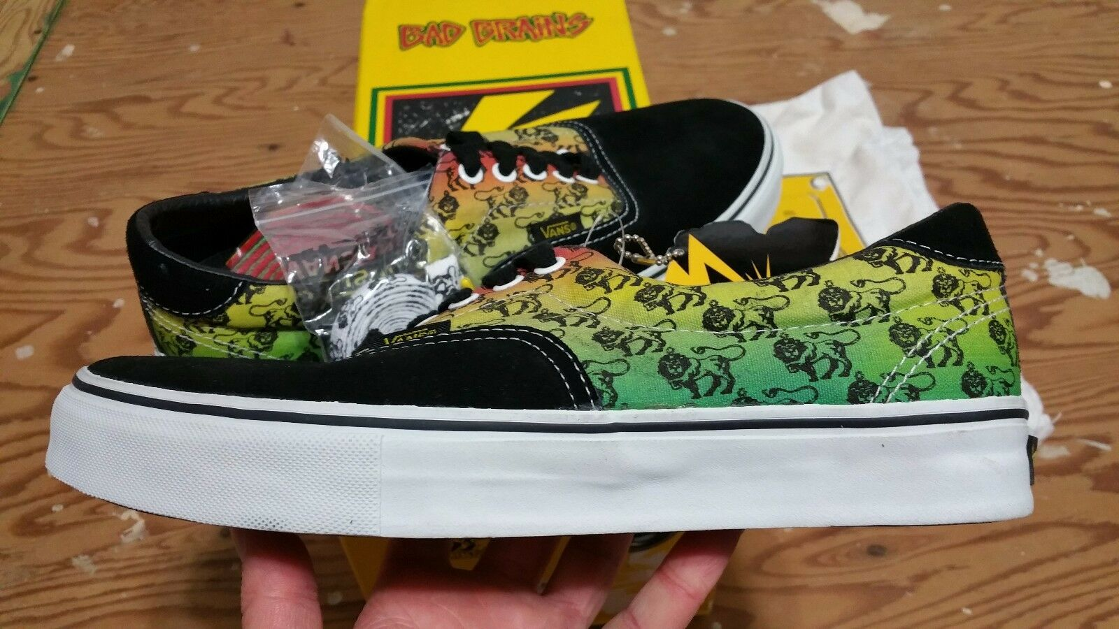 Vans x Bad Brains 46 LE Yellow Yellow Yellow Black Size 9.5 hosoi wtaps syndicate supreme 574650
