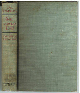 Storm-over-the-Land-A-Profile-Of-The-Civil-War-by-Carl-Sandburg-1st-Ed-1942-Book