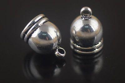 30Pcs End Caps Bead Stopper Fit 9mm Cord Bracelet Necklace Marking 5Colors