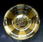 WALTHER & SOHNE ART DECO GOLDEN AMBER GLASS GORLITZ FLOAT BOWL