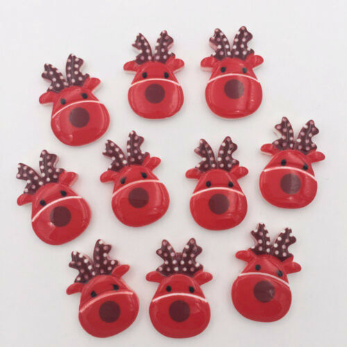 Fun Christmas Xmas Decorations for Kids Card-making /& Decoration 10 Pcs Craft