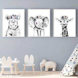 Safari tropical Nursery Wall Prints nursery wall prints,Boys nursery prints