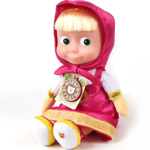 Masha from Masha and The Bear Russian Soft Plush Toys Original Licensed Sounds