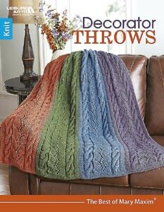 Knit Pattern Book Decorator Throws 6 Knitting Designs Ma Ry
