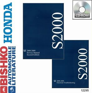 details about 2000 2002 2005 2007 2009 honda s2000 shop service repair  manual cd engine wiring