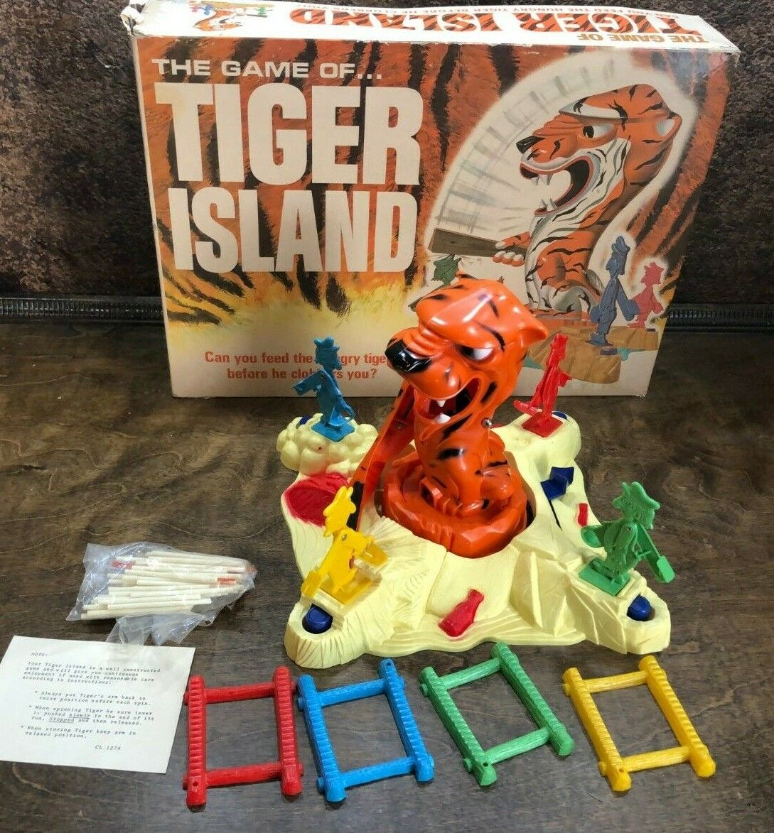 31817 The Game of Tiger Island Ideal Toys 1966 in original box