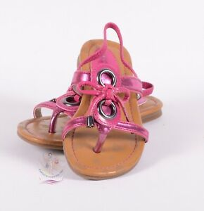 Elie Tahari Tiffani Girls Pink Thong Sandals Sz 8 US / 24 EU $49 NWOB