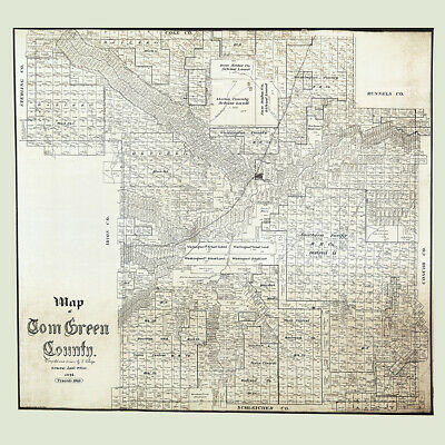 1876 Farm Line Map of Oceana County Michigan Barnett Hart Pentwater