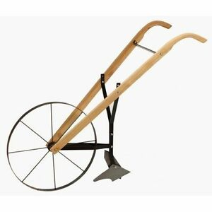 NEW MAXIM MFG BHW 24 24034 HI WHEEL WOODEN HANDLE GARDEN PUSH