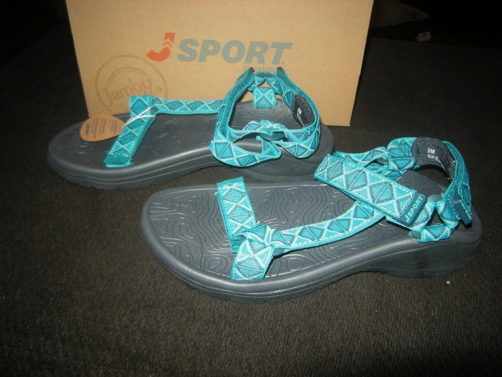 New Womens Turquoise Green J Sport by Jambu Navajo Water Ready Sandals, Size 10