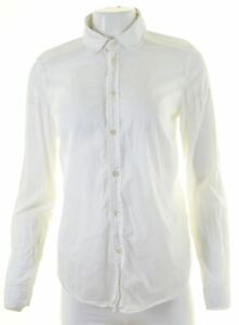DIESEL-Womens-Shirt-Size-14-Medium-White-Cotton-NM58