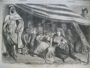 ALGERIE-ALGER-TENTE-CAMP-MAISON-CARReE-CHINE-PEI-TANG-CANNONIERES-GRAVURES-1860