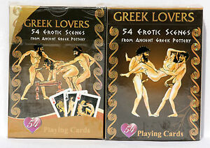 deck playing cards greek lovers erotic scenes from ancient pottery