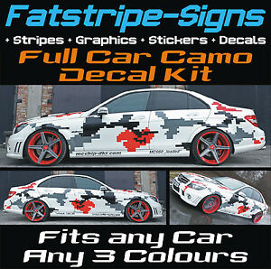 Full Car Camo Kit Graphics Stickers Decals Camouflage Bonnet Roof