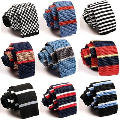 Fashion Men's Colourful Tie Knit Knitted Tie Necktie Narrow Slim Skinny Woven