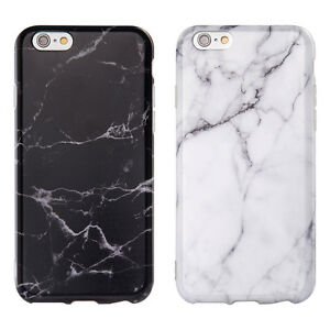 White Black Marble Pattern Soft TPU Phone Case Cover for Apple ... 9a72aa962d