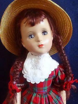 "GORGEOUS Vintage 1930 Madame Alexander 18""  Margaret O'Brien Composition Doll"