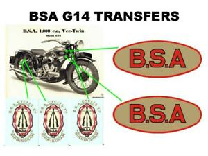 BSA Frame /& Fittings Classic Motorcycle Restoration Transfer Decal Sticker