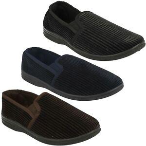 MS50 Calidad Hombre LONA Doble Sin Cordones Zapatos Cálido Cómodo Pantuflas