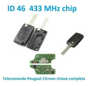 ASK-Cle-Telecommande-COMPLETE-Peugeot-207-phase-2-CE0523-433mhz