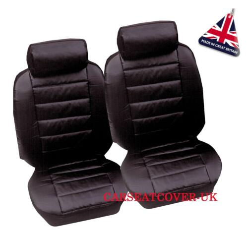 Luxury Padded Leather Look Car Seat Covers Skoda Roomster 2 x Fronts 2006-09