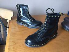 Vintage Dr Martens 1460 Black leather boots UK 6 EU 39 punk skin goth England