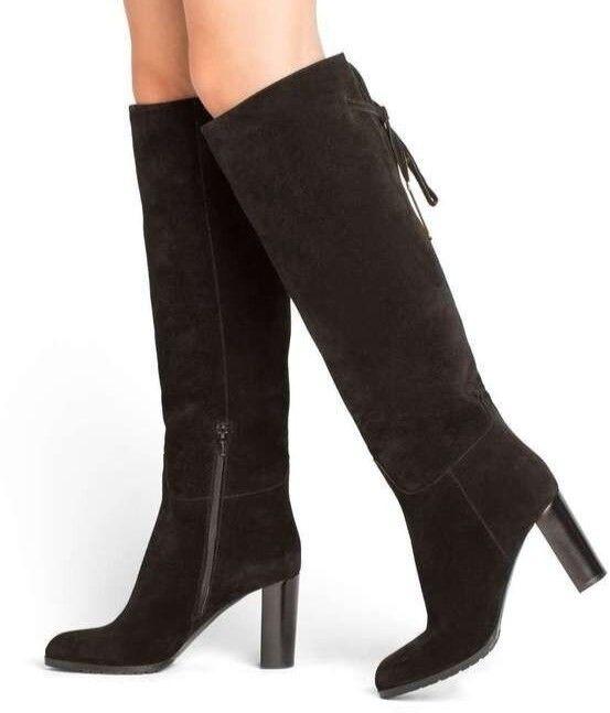 Women's M. Gemi 'The Pendolo' Black Suede Knee-High Boots Sz 41 EU (10.5 US)