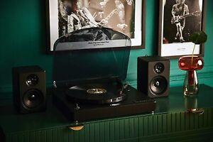 Retro Musique Bluetooth Tischplatte Plattenspieler Vinyl Schallplattenspieler + 2x20w Lautsprecher