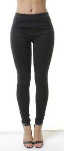 Ex-New-Look-Womens-Mid-Waisted-Jean-Jeggings-Ladies-Stretchy-Leggings-Pants-4-26