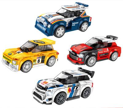 Sembo 607037-607040 Blocksteine Racing Auto 4Set Figur Spielzeug Model Geschenk
