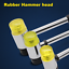Replacement Useful Rubber Handle Musical Tool Double Head Rubber Hammer Head