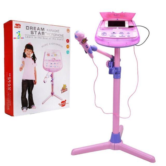 Kids Karaoke Microphone Musical Toys - Wishtime ZM16038 Kids Pink Karaoke Stand