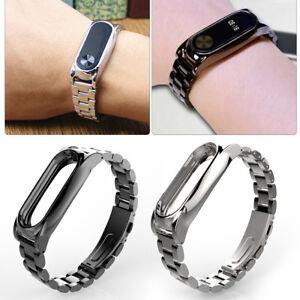 Mijobs-Wristband-Wrist-Strap-Band-Metal-Case-w-2-Screen-For-XIAOMI-Bracelet-2