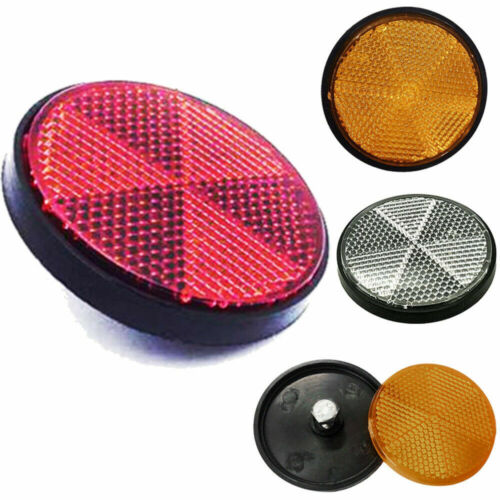 2X Bicycle Bike Round Reflector Safety Night Cycling Reflective Bike Accessories