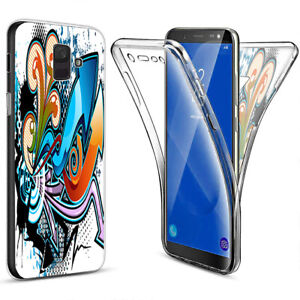 360 Grad Full TPU 3D Handy Tasche Case Display Schutz Cover Hülle Silikon #D379