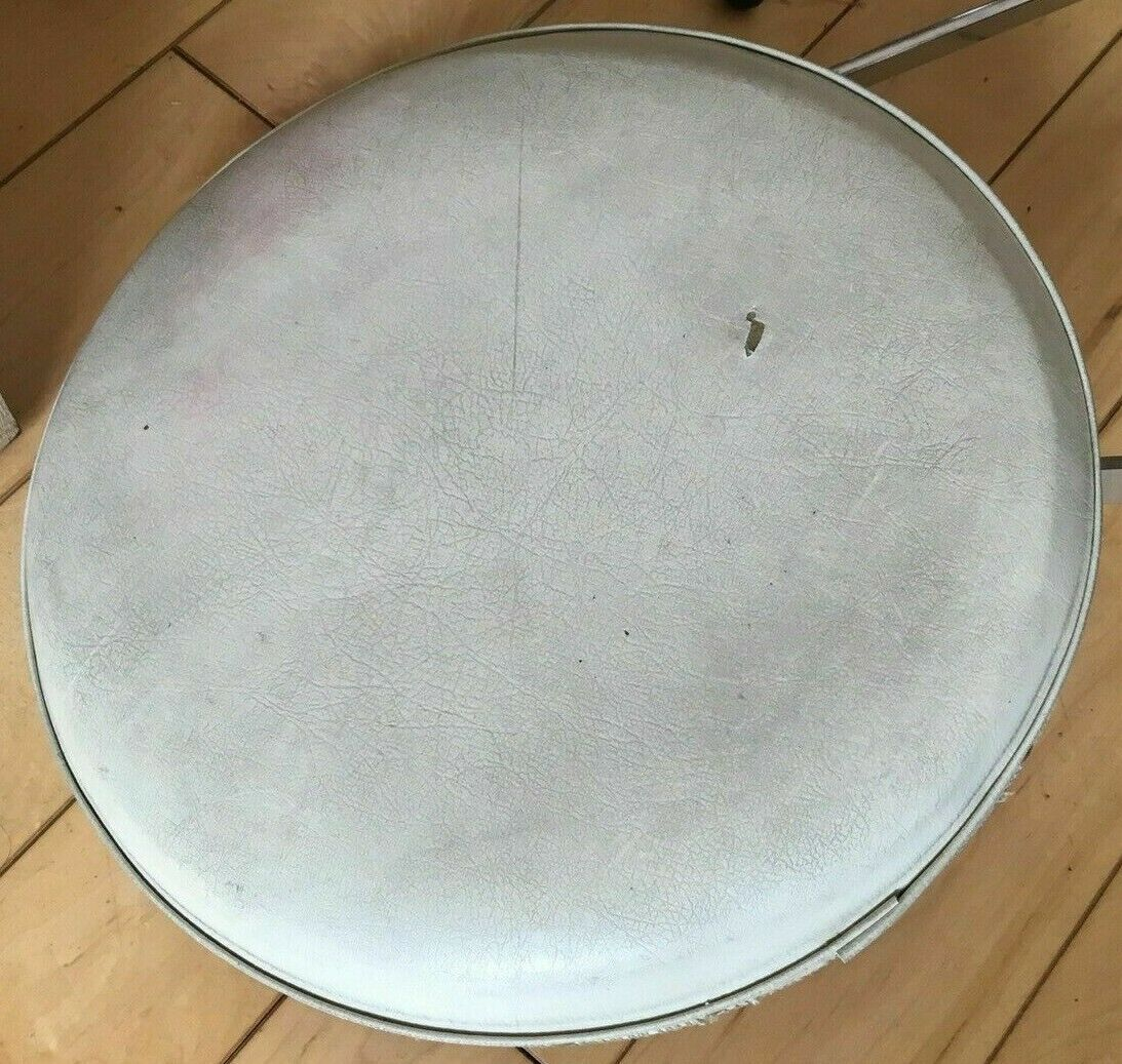 SLINGERLAND 60's   STOOL   THRONE   Weiß   DRUMS   VINTAGE   RARE   SGABELLO