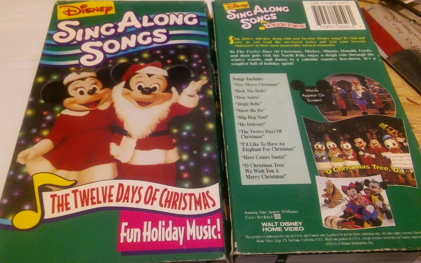 disneys sing along songs the twelve days of christmas vhs 1997 ebay - Disney 12 Days Of Christmas