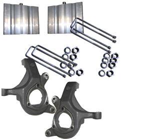"""J 2007-2013 CHEV Silverado 1500 2WD 3/"""" Lift Spindles  4/"""" Blocks"""