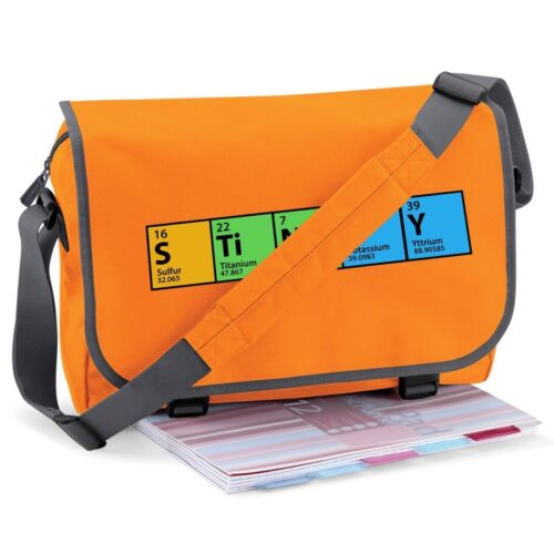 ALL COLOURS BIG BANG THEORY PERIODIC TABLE STINKY MESSENGER LAPTOP PRINTED BAG