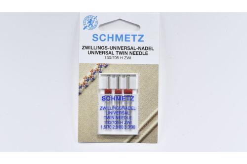 2mm//80 3 Schmetz Zwillingsnadeln 130//705 1,6mm//70 3,29 € // St. 3mm//90