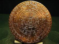 Unique Mayan Beautiful dettaglio RAME CALENDAR .999 Lingotti 1 x 1 OZ MONETE Menta,,