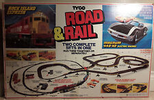 Vintage Tyco Rock Island Express Road And Rail Set 99% Complete Very Rare.